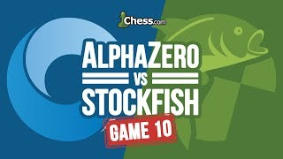 AlphaZero vs Stockfish Chess Match: Game 10