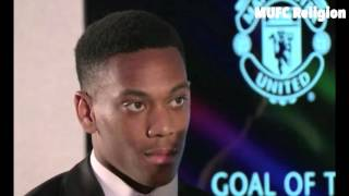 Manchester United Goal Of The Season Anthony Martial39s Speech Awards Ceremony