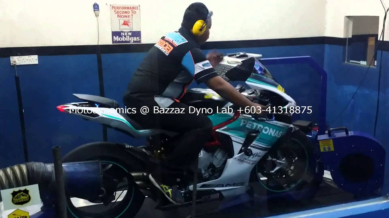 mv agusta f3 800 bazzaz zfi dyno #4 - motodynamics technology
