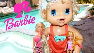 Video BABY ALIVE Emily Plays With Barbie In The Pool! download MP3, 3GP, MP4, WEBM, AVI, FLV Juli 2017