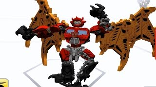 Transformers Construct Bot - Optimus Predaking Combined!