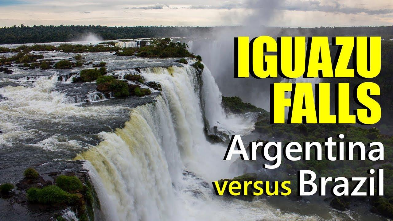 Iguazu Falls In Argentina And Brazil