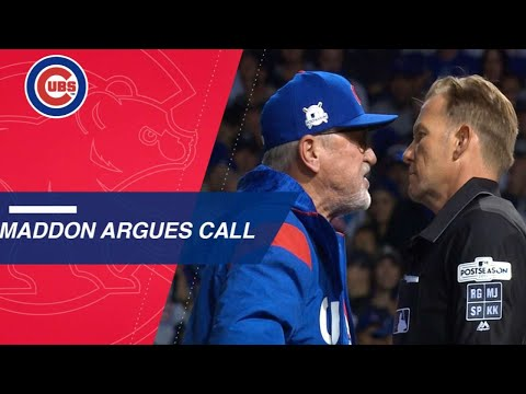 Extended Cut of foul ball call that leads to Maddon's ejection