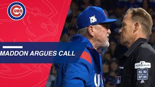 Extended Cut of foul that leads to Maddon's ejection