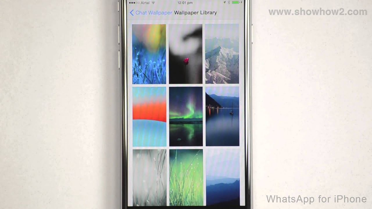 Whatsapp For Iphone How To Set A Wallpaper Youtube