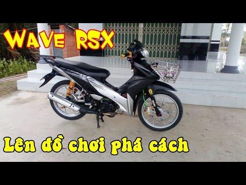 Xe độ đẹp - Honda Wave RSX độ dàn chân Suzuki Raider khác lạ
