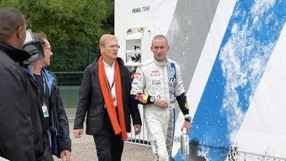 Jean Todt and Ari Vatanen with Paul Nagle - Rallye de France 2013