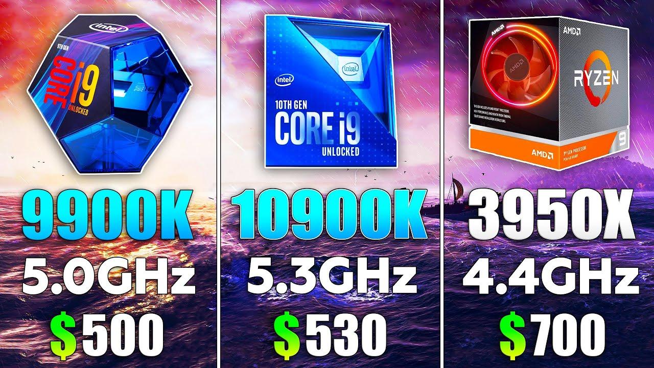 i9 10900K OC vs i9 9900k OC vs Ryzen 9 3950X OC Test in 8 Games
