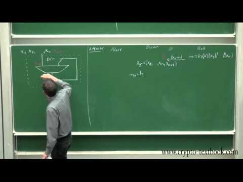 Lecture 22: MAC (Message Authentication Codes) and HMAC by Christof Paar