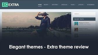 Elegant themes: Extra theme review