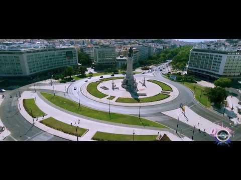 Marquês de Pombal Parque Eduardo VII - Lisboa - Portugal ( Drone FHD+ )