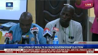 Collation Of Results In Osun Governorship Election Pt.16  Osun Decides 