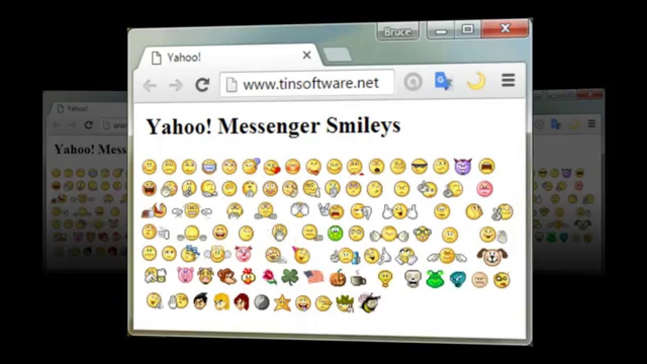 messenger emoticons Yahoo