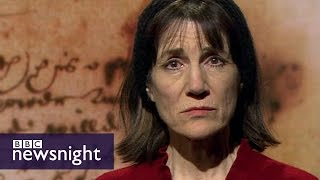 Shakespeare's take on refugees, performed by Harriet Walter - BBC Newsnight
