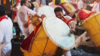 Puneri Dhol Original - Full Energy - Full Bass - Mumbai - Ganpati Visarjan.