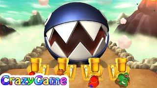 Mario Party 9 Boss Rush - Mario vs Daisy vs Shy Guy vs Yoshi Master CPU Gameplay | CRAZYGAMINGHUB