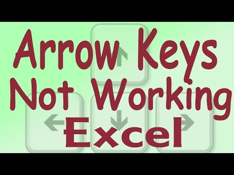 Arrow Keys Are Not Working For Up Down Cell In Microsoft
