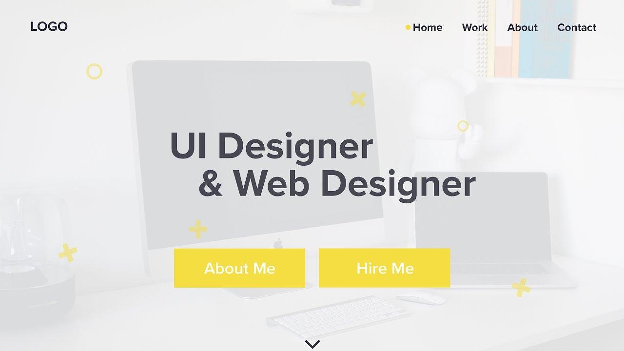 UI Designer & Web Designer Portfolio Site