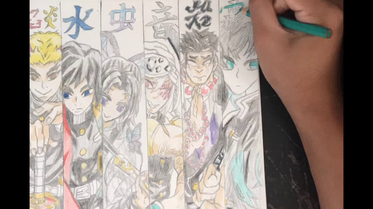 Who is the strongest corp in demon slayer? Let's Color!! The Ten Hashira From Demon Slayer!! - YouTube