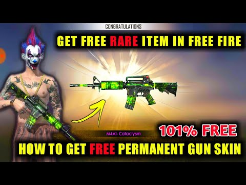NEW Weapon Royale- M4A1 Cataclysm -Free Fire   How To Get Free 101% Permanent Gun Skin In Free Fire