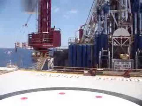Semisubmersible drilling rig Ocean Victory