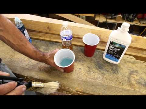 How to properly clean varnish brushes