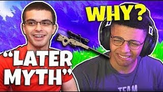 Nick Eh 30 Snipes Myth in mid air - Both sides | Fortnite $250,000 Tournament