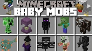 Minecraft BABY MOBS MOD / PLAY WITH BABY MOBS AND FIGHT THE VIOLENT ONES!! Minecraft