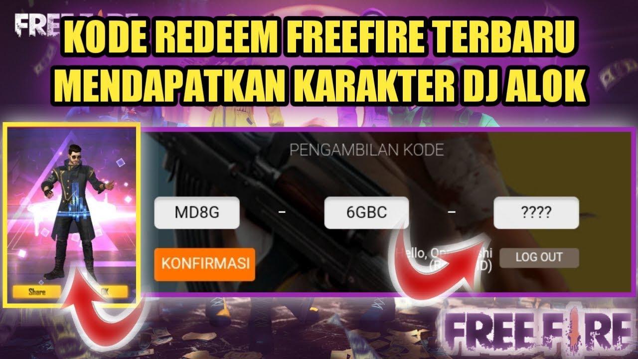 15 KODE REDEEM FREEFIRE TERBARU KARAKTER DJ ALOK BURUAN TUKAR SEKARANG !! -  YouTube