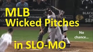 16 WICKED MLB PITCHES in SLOW MOTION - Mind blowing Major League Baseball Pitchers