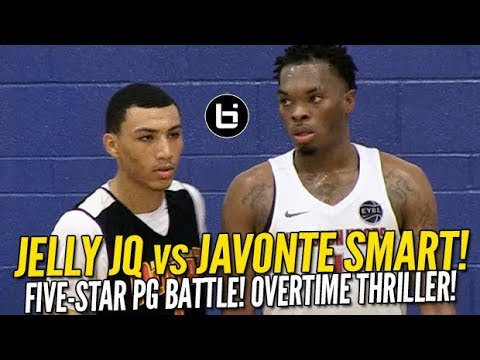 01bd44613e60 Jelly Fam Jahvon Quinerly vs Ja Vonte Smart! 5-Star PG Battle! Naz Reid Goes  Off!