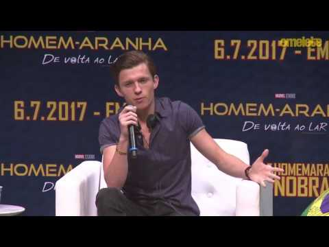 Tom Holland & Laura Harrier Interview - Spiderman Homecoming Promo Event in Brazil (6/2/2017)