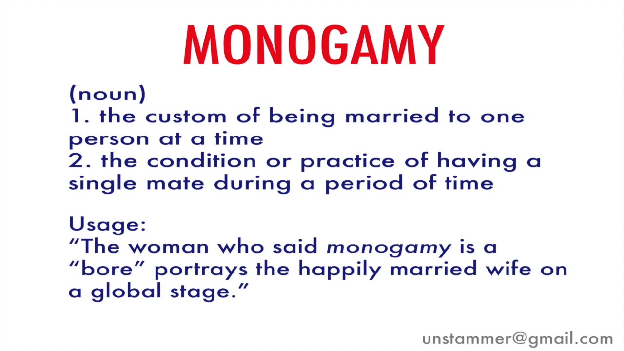 What Does The Word Monogamy Mean