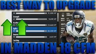 The Best Way to Upgrade/Use Xp in Madden 18 Connected Franchise! Madden 18 Franchise Tips 2017 Video