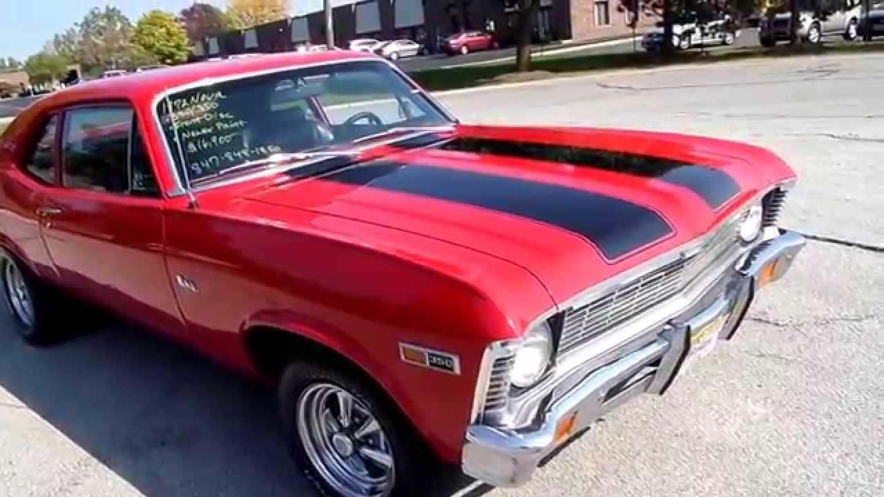 1972 NOVA-FOR SALE-American Muscle Cars - YouTube