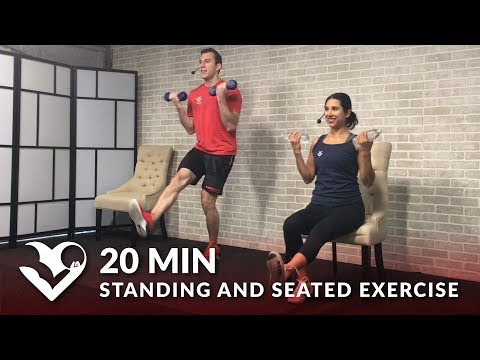 20 Min Exercise for Seniors, Older People, Elderly - Seated Chair Exercises Senior Workout Routines