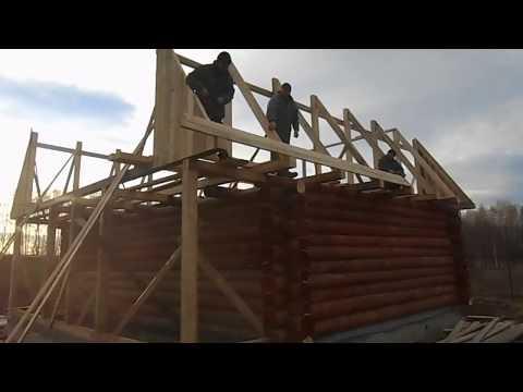 видео: Установка ломаной крыши