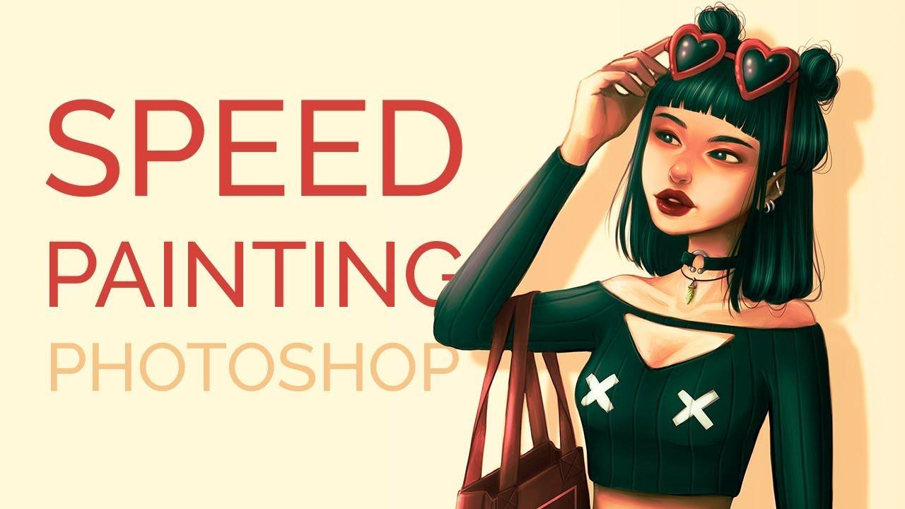 Speedpainting - drawing in Photoshop   Watermelon Girl