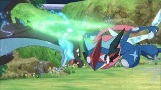 UK: Ash-Greninja versus Mega Charizard X! | Pokémon the Series: XYZ