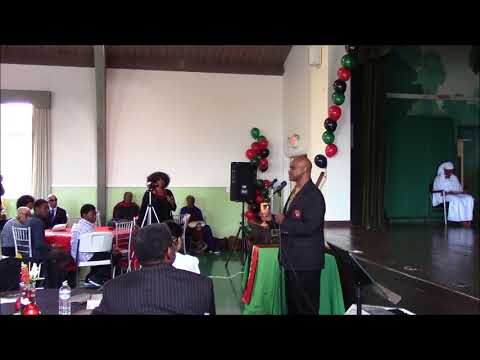 Marcus Garvey School L.A  - Dr  Anyim Palmer's Ceremony Jan. 6, 2018  Part 1