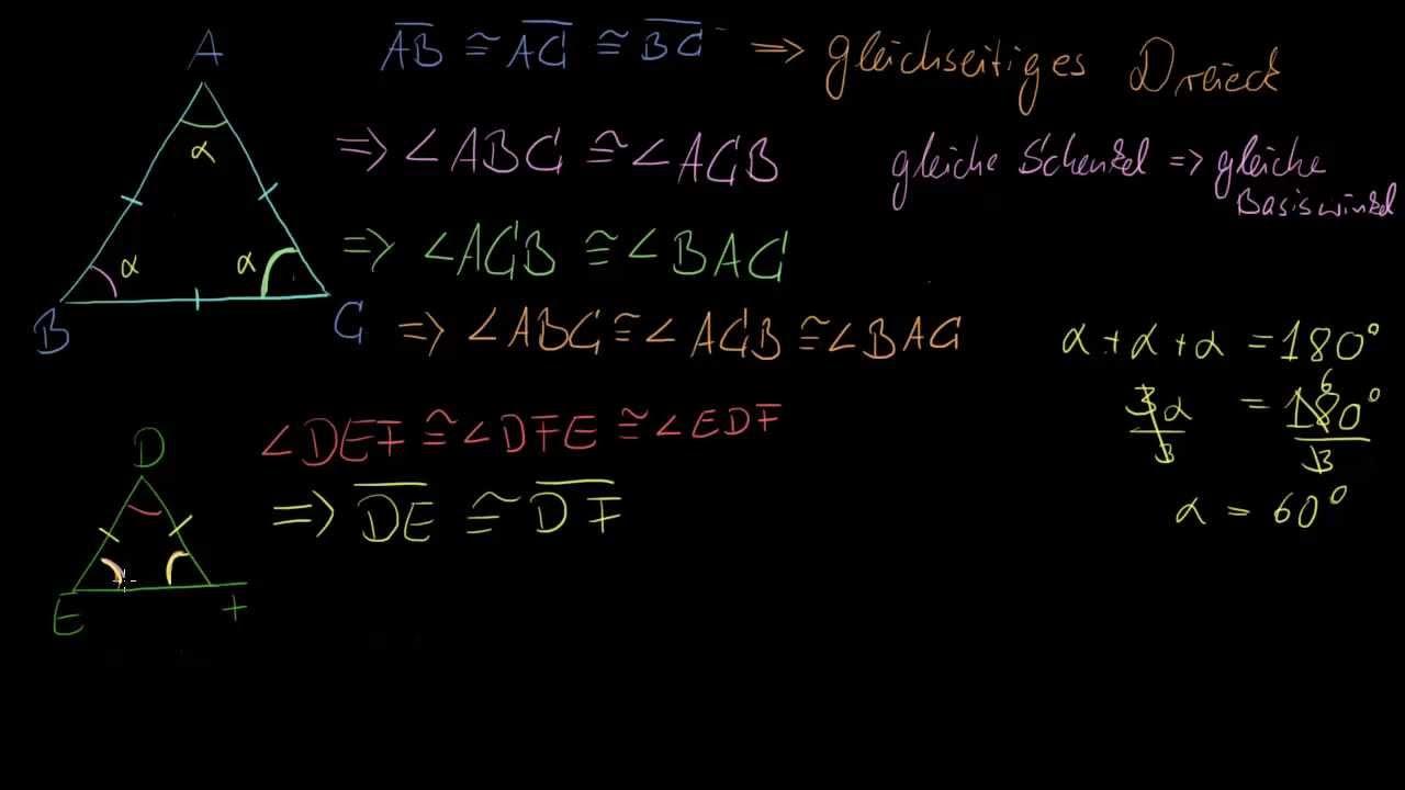 gleichseitige Dreiecke (kongruenten Seite und Winkel) - YouTube