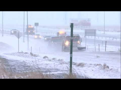 Blowing snow forces Colorado highway closures
