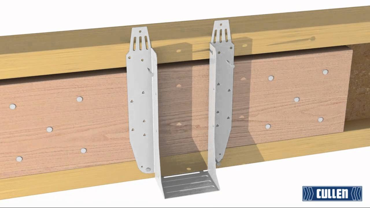 How To Install A Uh Hanger To An I Joist With Backer Block