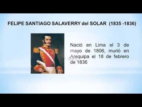 Presidentes peruanos - Santiago Salaverry - Presidentes del Peru
