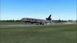 Pouso MD-11F VARIGLOG em EZEIZA