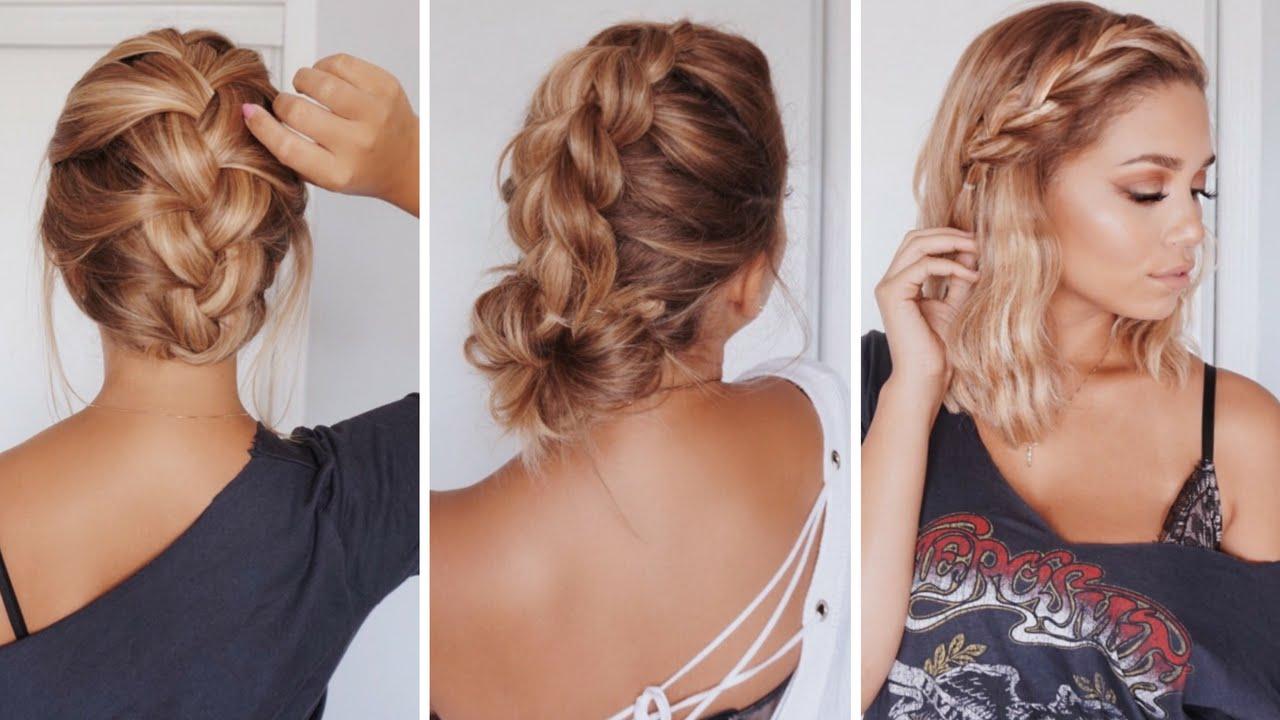 3 easy hairstyles for short/medium length hair | ashley bloomfield