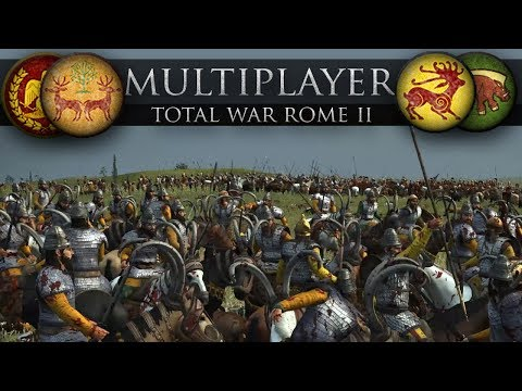 The Steppe Warriors Take Sides (Total War: Rome II Online Battle #248)