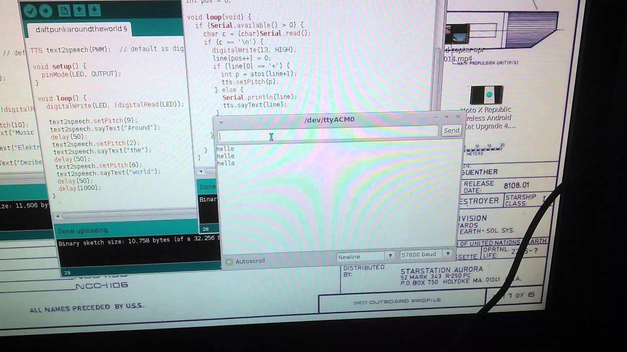 Arduino Text To Speech using PWM