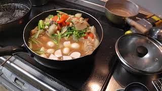 幸運な病のレシピ( 328 )-2朝:鳥、カボチャ、唐揚げ、ロースアスパラ巻きフライ、煮しめ thumbnail
