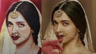 How i draw Deepika padukone with Pan pastel colors - speed drawing